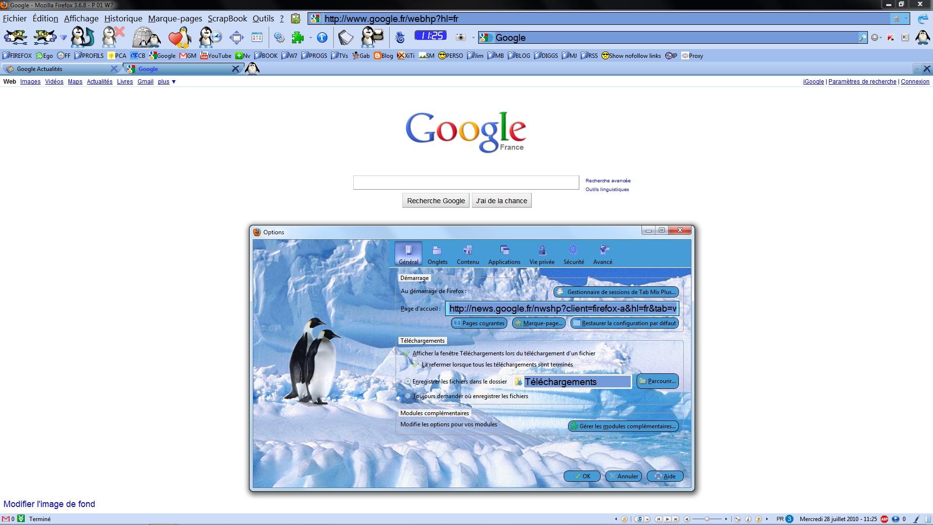 Firefox 3.6 - Thème Penguin